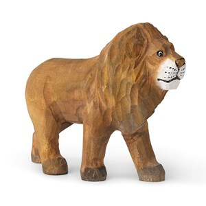 Image of ferm LIVING Animal Hand-carved Lion 3 - 10 years (1673471)