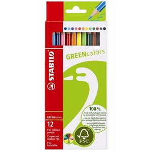 Image of STABILO GREENtrio Colors Thick 12-pack 9+ years (1673901)