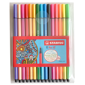 Image of STABILO Pen 68 15-pack 9 months - 3 years (1673904)