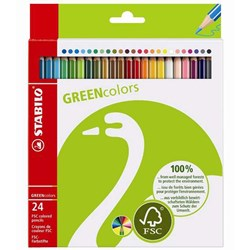 STABILO GREENcolors 24-pack