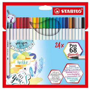 Image of STABILO Pen 68 Brush 24-pack 9 months - 3 years (1673910)