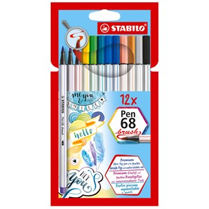 Image of STABILO Pen 68 Brush 12-pack 9 months - 3 years (1673909)