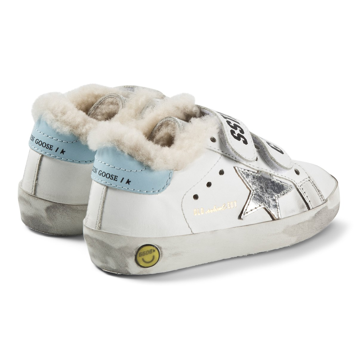 Silver Star Old School Leather Sneakers