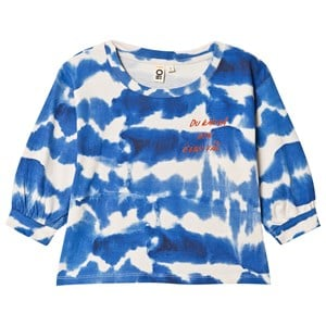 Image of Oii Balloon Sleeve Tie Dye T-shirt Blå 98/104 cm (1615570)