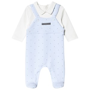 Image of Mayoral Stars Detail Footed Baby Body Blue 12 months (1633569)