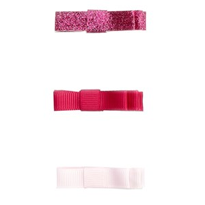 Image of Jacadi 3-Pack Bow Hair Clips Pink One Size (1666774)