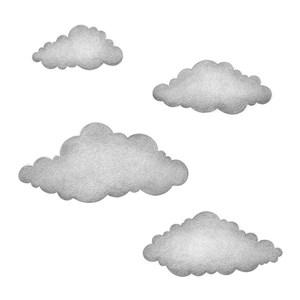 Image of Stickstay Clouds graphite grey One Size (1673681)