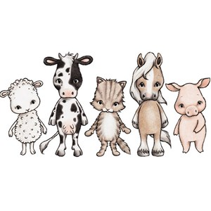 Image of Stickstay Farmhouse friends (All 5) One Size (1673666)