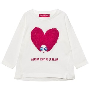 Image of Agatha Ruiz de la Prada Applique Heart Face T-shirt 5 år (1600998)