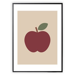 Image of XO Posters Apple 30 x 40 Plakat One Size (1647002)