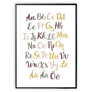 Image of XO Posters Alphabet Color 30 x 40 Plakat One Size (1647007)