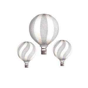Image of Stickstay Vintage balloon set light grey One Size (1673686)