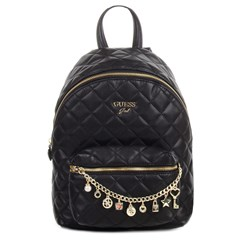 Guess Quilted Chain Detail Reppu Musta