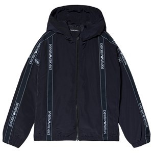 Image of Emporio Armani Tape Logo Hooded Vatteret Jakke Sort 4 år (1615401)