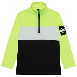 Image of Bogner Colorblock Balu 1/2 Zip Basislag Neongult S (5-6 years) (1671727)