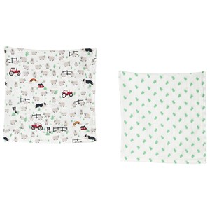 Image of Frugi 2-pak Lovely Muslin Kluder Tractor one size (1597072)