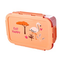 Rice Lunchbox with 3 Inserts Coral Jungle Print