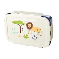 Rice Lunchbox with 3 Inserts Blue Jungle Print