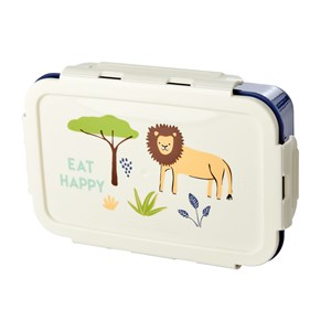 Image of Rice Lunchbox with 3 Inserts Blue Jungle Print one size (1759481)