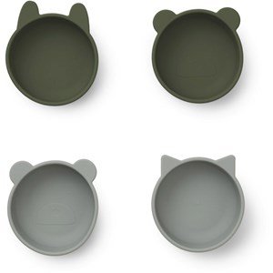 Image of Liewood 4-Pack Iggy Silicone Bowls Hunter Green One Size (1668558)