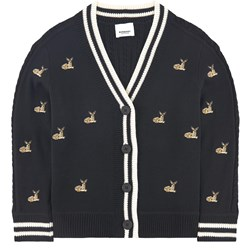 Burberry Embroidered Cardigan Black