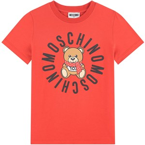 Image of Moschino Kid-Teen Graphic T-Shirt Red 10 år (1709531)
