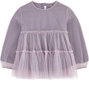 Image of Il Gufo 2-piece Tulle and Jersey Blouse Lilac 5 years (1744426)
