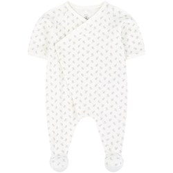 Petit Bateau Footed Baby Body White