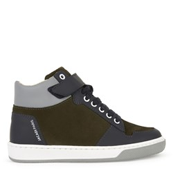 Jacadi High-top suede leather sneakers