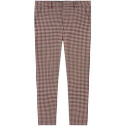 Burberry Check Chinos Red