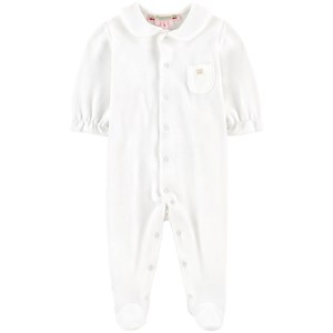 Image of Bonpoint Velvet Footed Baby Body White 12 mdr (1704678)