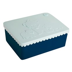 Blafre Lunch box with 3 compartments, Bear, Light blue/Navy