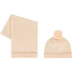 Chloé Wool Hat And Scarf Set Pink