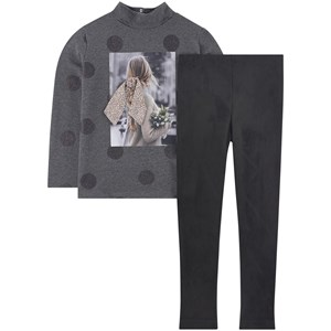 Image of Mayoral 2-piece Top And Leggings Set Gray 8 år (1721774)