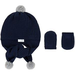 Image of Mayoral Newborn baby hat and mittens 6 mdr (1685605)