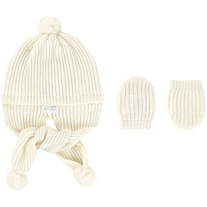 Image of Mayoral Newborn baby hat and mittens 6 mdr (1685610)