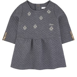 IKKS Embroidered Logo Dress Gray