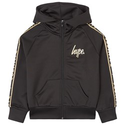 Hype Gold Taped Hoodie Black