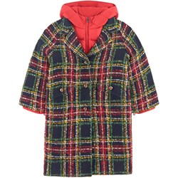 Dolce & Gabbana Branded Check 2-in-1 Coat Navy