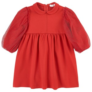 Image of Il Gufo Glitter Sleeve Dress Red 12 mdr (1688448)