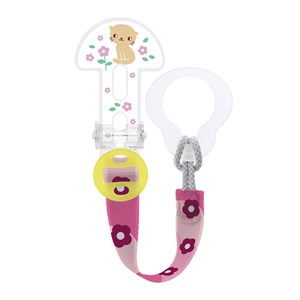 Image of MAM Clip It Adjustable Pacifier Clip Pink One Size (1222643)