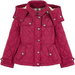 Burberry Foxmoore Quilted Jacket with Hood Fritillary Pink