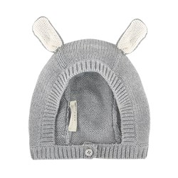 Stella McCartney Kids Chips Knitted Bunny Hat Grey