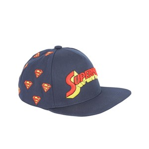 Image of Fabric Flavours Blue Superman Retro Logo Cap One Size (5-10 years) (995543)
