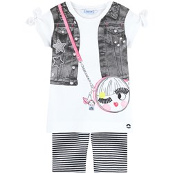Mayoral Set of Cropped Leggings and T-Shirt White