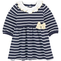 Petit Bateau Randig Baby Dress Marinblå/Off White