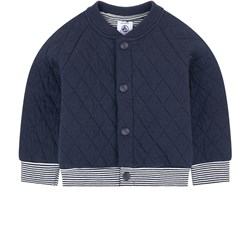 Petit Bateau Baby Cardigan Quilted Blue