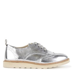 Young Soles Silver Leather Brando Brogues
