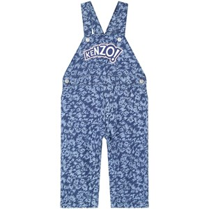 Image of Kenzo Blue Denim Embroidered Logo Overalls 1 month (1219703)