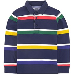 Mayoral Navy & Primary Colors Striped Polo